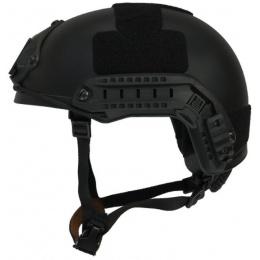 Lancer Tactical MH Ballistic Type Tactical Gear Helmet - Black - L/XL