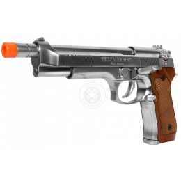 WE Tech M92-L Full Metal Airsoft Gas Blowback Pistol - SILVER