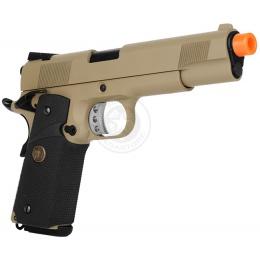 WE Tech M1911 MEU Tanio Koba Airsoft Gas Blowback Pistol - TAN