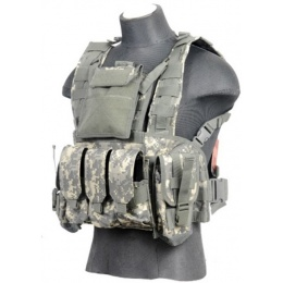 Lancer Tactical Airsoft M4 MOLLE Modular Chest Rig (Polyester) - ACU