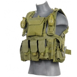 Lancer Tactical Airsoft M4/M16 Modular Chest Rig - OLIVE DRAB