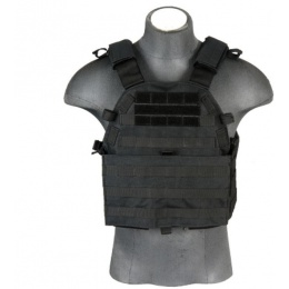 Lancer Tactical 69T4 Plate Carrier w/ Triple Mag Pouch - Black