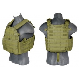Lancer Tactical 69T4 Tactical Vest w/ Triple Mag Pouch - OD Green