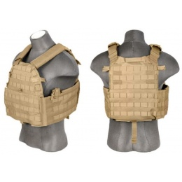 Lancer Tactical 69T4 Tactical Vest w/ Triple Mag Pouch (Tan)