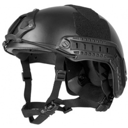 Lancer Tactical MH Type Tactical Airsoft Helmet - M/L - BLACK