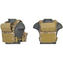 Lancer Tactical Speed Assault Airsoft Plate Carrier Vest - Camo