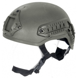 Lancer Tactical Airsoft GUN Mich 2001 NVG Safety Helmet - OD GREEN
