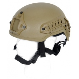 Lancer Tactical Airsoft GUN Mich 2001 NVG Safety Helmet - TAN