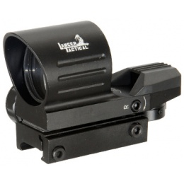 Lancer Tactical Red & Green Dot Reflex Sight Scope - BLACK