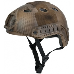 Lancer Tactical Fast PJ Type Tactical Gear Helmet - Custom DE