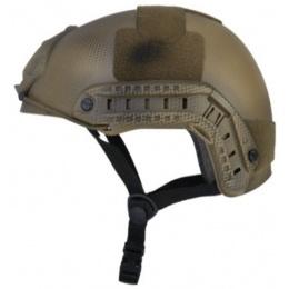 Lancer Tactical Fast Ballistic Type Gear Helmet - CUSTOM DARK EARTH