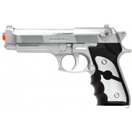 UK ARMS Airsoft Spring Pistol w/ Ergonomic Grip - SILVER