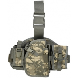 Lancer Tactical MOLLE Dropleg Holster w/ Pouches - ACU