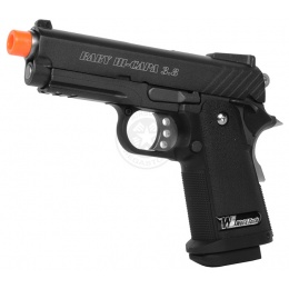 WE Full Metal 3.8 Baby Hi-Capa Gas Blowback Pistol w/ Threaded Barrel