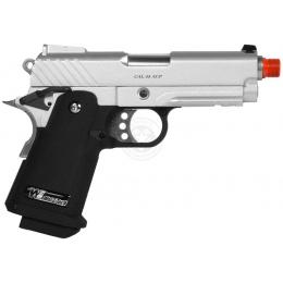 WE Tech Full Metal 3.8 Baby Hi-Capa Gas Blowback Pistol - Silver