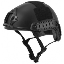 Lancer Tactical FAST Ballistic Type Tactical Gear Helmet - BLACK