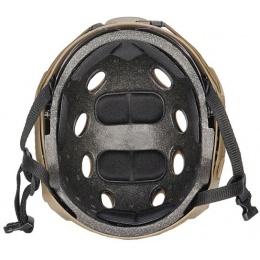 Lancer Tactical FAST PJ Type Tactical Gear Helmet w/ Visor - DE