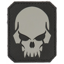 Airsoft Pirate Skull Rubber PVC Morale Patch - BLACK