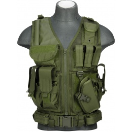Lancer Tactical CA-310G Tactical Crossdraw Vest - OD GREEN