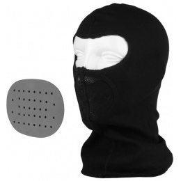 G-Force Tactical Airsoft Balaclava w/ Integrated Mouth Guard - BLACK