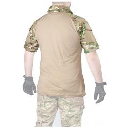Lancer Tactical GEN2 Tactical Apparel Combat Short Sleeve Shirt - Camo - L