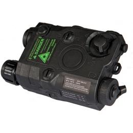Lancer Tactical PEQ - 15 Green Tactical Laser - BLACK w/Battery case