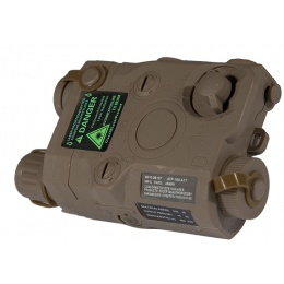 Lancer Tactical PEQ15 AEG Battery Box w/ Green Laser - DARK EARTH