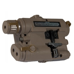 Lancer Tactical PEQ - 15 LA - 5 Green Laser - DARK EARTH w/ Battery case