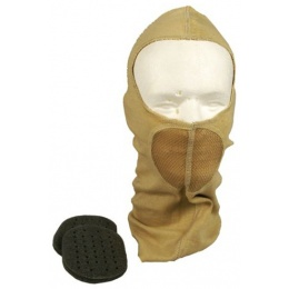 G-Force Tactical Airsoft Balaclava w/ Integrated Mouth Guard - TAN