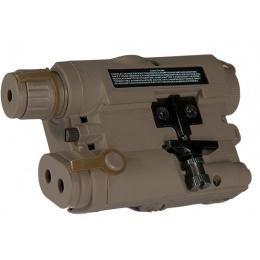 Lancer Tactical PEQ15 AEG Battery Box w/ Red Laser - DARK EARTH
