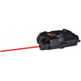Lancer Tactical PEQ-15 LA - 5 Red Tactical laser - BK w/ Battery case