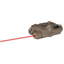 Lancer Tactical PEQ-15 LA - 5 Red Tactical laser - DE w/ Battery case