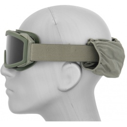 Lancer Tactical Airsoft Goggles  w/ 3 - Lens Kit - OLIVE DRAB GREEN