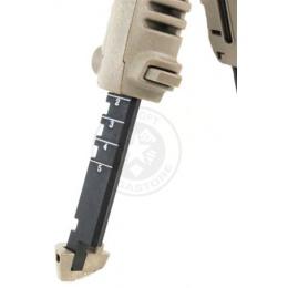 BattleAxe ACG Rapid Deploy Bipod Foregrip for Airsoft Rifles - TAN