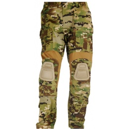 UK Arms Airsoft GEN2 Tactical Pants w/ Knee Pads - CAMO - LARGE