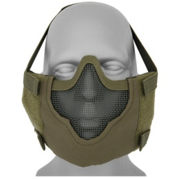 Black Bear Airsoft V8 Mesh Nylon Half Face Mask - OD GREEN