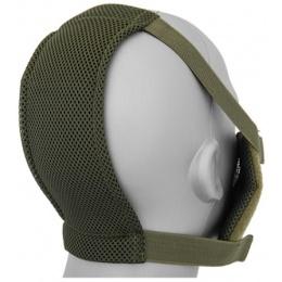 Black Bear Airsoft V8 Mesh Nylon Half Face Mask - OD GREEN