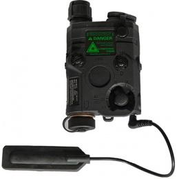 UK Arms Airsoft AN/PEQ - 15 White LED Green laser w/ IR Lens - BLACK