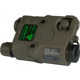 UK Arms Airsoft AN/PEQ - 15 White LED Green laser w/ IR Lens - FOLIAGE GREEN