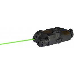 UK Arms Airsoft AN/PEQ - 15 LA5 White Light Green laser w/ IR Lens - BLACK