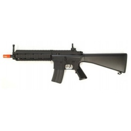 Double Eagle MK416 AEG Tactical RIS w/ Fixed Stock - BLACK