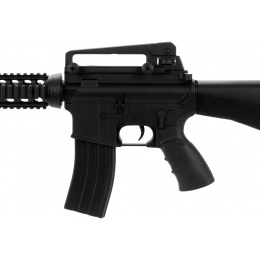 Well Airsoft M4 AEG Tactical RIS w Fixed Stock Carrying Handle - BLACK