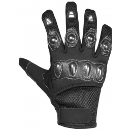 G-Force Airsoft Special Operations Gloves w/ Carbon Knuckles - BLACK