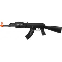 CYMA Airsoft Tactical AK47 AEG Fixed Stock RIS - BLACK