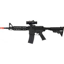 UK Arms Airsoft M4 AEG Adjustable LE Stock Quad RIS - BLACK