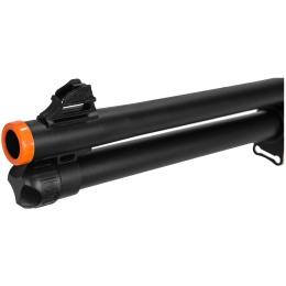 Airsoft Spring Powered Shotgun w/ Optics RIS Scope - WOOD