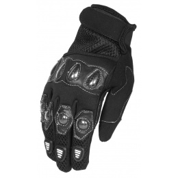 G-Force Airsoft XL Tactical Gloves w/ Carbon Knuckles - BLACK