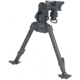 AGM Airsoft Bipod Full Metal Quick Release w/ Universal Sling - BLACK