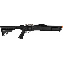 AMA Airsoft Spring Powered Tactical Shotgun RIS w/ LE Stock - BLACK
