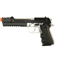 HFC Airsoft Premium Spring Pistol with Accessory RIS - SILVER